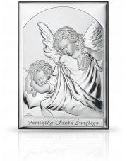 Obrazek srebrny Aniołek z latarenką