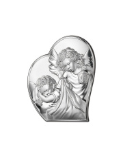 Obrazek srebrny Aniołek w sercu