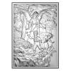 Obrazek srebrny z Aniołem Stróżem