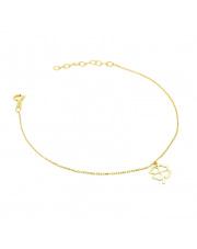 Złota bransoletka celebrytka z koniczynką - pr. 585
