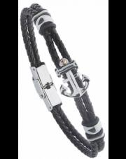 Pleciona męska bransoleta stal z kotwicą-A2805