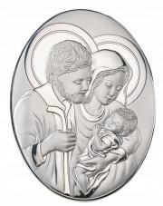Obrazek srebrny Święta Rodzina