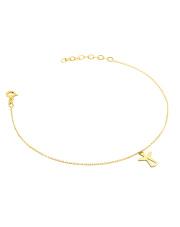 Złota bransoletka celebrytka z aniołkiem - pr. 585