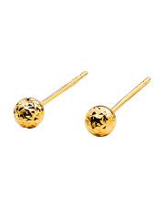 Złote kolczyki kulki diamentowane - pr.333