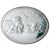 Obrazek srebrny owalny Amorki