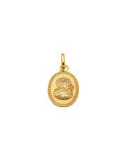 Złota zawieszka owalny medalik - pr. 333