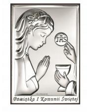 Obrazek srebrny Pierwsza Komunia Święta