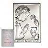 Obrazek srebrny Dziewczynka Pierwsza Komunia Święta