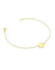 Złota bransoletka celebrytka z kółkiem - pr. 585