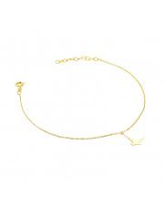 Złota bransoletka celebrytka z ptakiem - pr. 585
