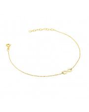 Złota bransoletka celebrytka z nieskończonością - pr. 585