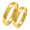 Złote obrączki półokrągłe z soczewką 3mm - pr 585