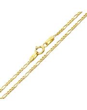 Złoty łańcuszek figaro 50 cm - pr. 585