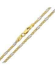 Złoty łańcuszek figaro 50 cm - pr.585