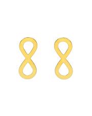 Złote kolczyki z symbolem nieskończoności - pr. 585