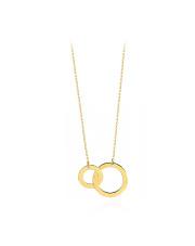 Złoty naszyjnik celebrytka z kołami - pr. 585