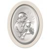 Obrazek srebrny Komunia Święta Chłopiec oval