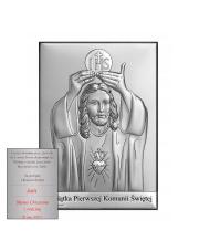 Obrazek srebrny Pierwsza Komunia Święta - Jezus