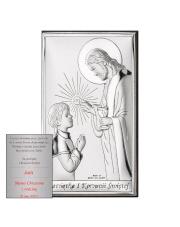 Obrazek Pierwsza Komunia Św. Chłopiec z Jezusem