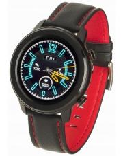 Smartwatch Garett Master RT czarno-czerwony,skórzany