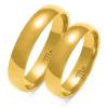 Złote obrączki półokrągłe z soczewką 5mm - pr.585