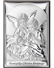 Obraz z aniołkami nad dzieckiem