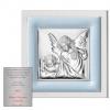 Obraz srebrny Aniołek z Latarenką
