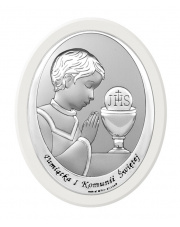 Obraz z wizerunkiem chłopca na pierwszej komunii św.
