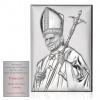 Obrazek srebrny Papież Jan Paweł II