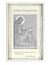 Obrazek Komunia Św. Chłopiec z Jezusem