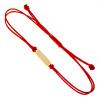 Złota bransoletka na sznurku z blaszką - pr. 585