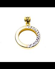 Złota zawieszka Okrąg - pr. 585