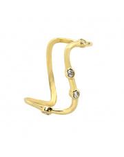 Złoty pierścionek zygzak - pr. 585