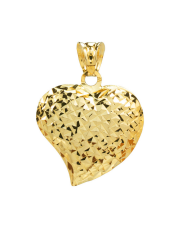 Złota zawieszka serce diamentowane pr. 585