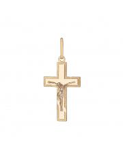 Złota zawieszka krzyżyk prawosławny - pr. 585