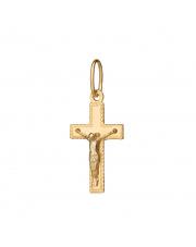 Złota zawieszka krzyżyk katolicki - pr. 585