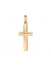 Złota zawieszka krzyżyk bez pasyjki - pr. 585