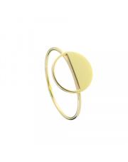 Złoty pierścionek okrąg na pół pełny - pr. 585