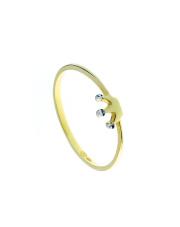 Złoty pierścionek z koroną - pr. 585