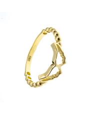 Złoty pierścionek ze skrzydłami anioła - pr. 585