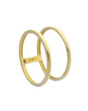 Złoty pierścionek podwójna obrączka - pr. 585
