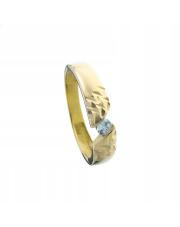 Złoty pierścionek diamentowany z cyrkonią - pr. 585