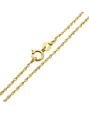 Złoty łańcuszek singapur 42 cm - pr. 585