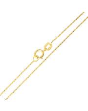 Złoty łańcuszek kostka - 45 cm pr. 585