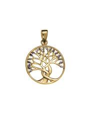 Złota zawieszka drzewko szczęścia- pr. 333