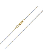 Złoty łańcuszek Valentino 50 cm - pr. 585