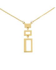 Złoty naszyjnik-celebrytka z prostokątami - pr. 585