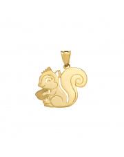 Złota zawieszka wiewiórka - pr. 585