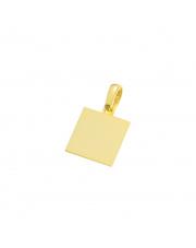 Złota zawieszka gładki kwadrat - pr. 585