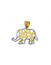 Złota zawieszka ażurowy słoń pr. 585